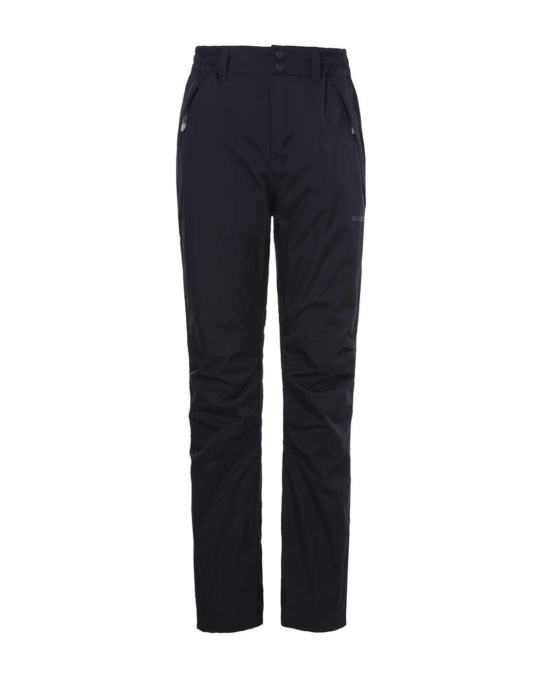 塞沃斯 女款黑色沖鋒褲 防水透氣保暖